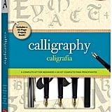 Complete Beginner Calligraphy Kit ($20) What it comes with: 32-Page paperback book, cartridge calligraphy pen, three pen nibs, 10 ink cartridges, three felt-tip calligraphy markers, guideline sheet, and calligraphy paper.