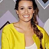 Lea Michele's undone braid/ponytail hybrid at the Fox All-Star Party is easy enough for everyday wear.