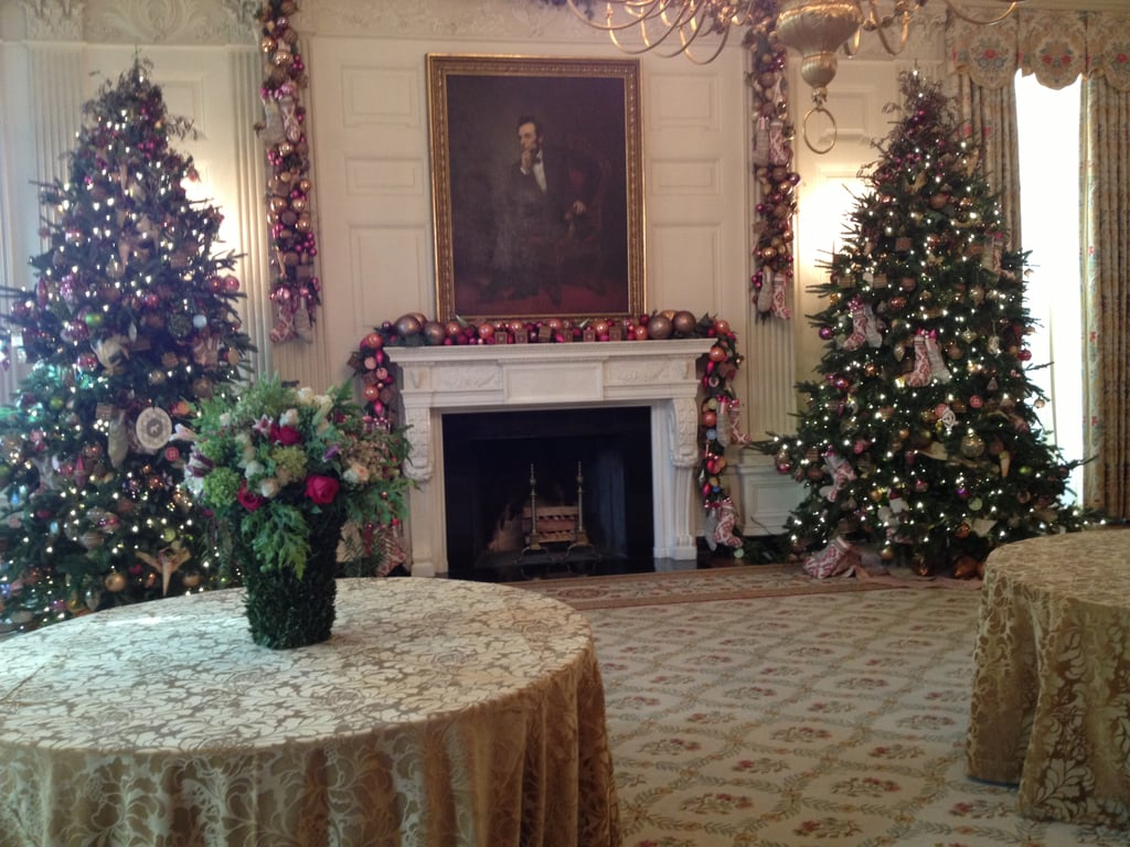 The State Dining Room, one of the East Wing's largest spaces, was ornately decorated.