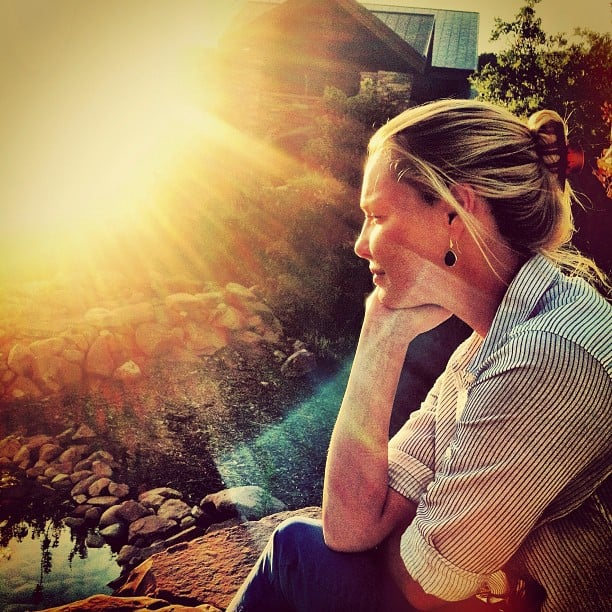 Katherine Heigl enjoyed the sunset. Source: Instagram user joshbkelley