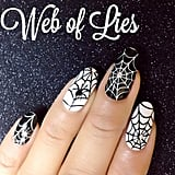 A spiderweb manicure is a classic Halloween manicure. Source: Instagram user shopncla