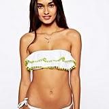 Shop the bandeau: ASOS Pom Pom Frill Bandeau Bikini ($34)