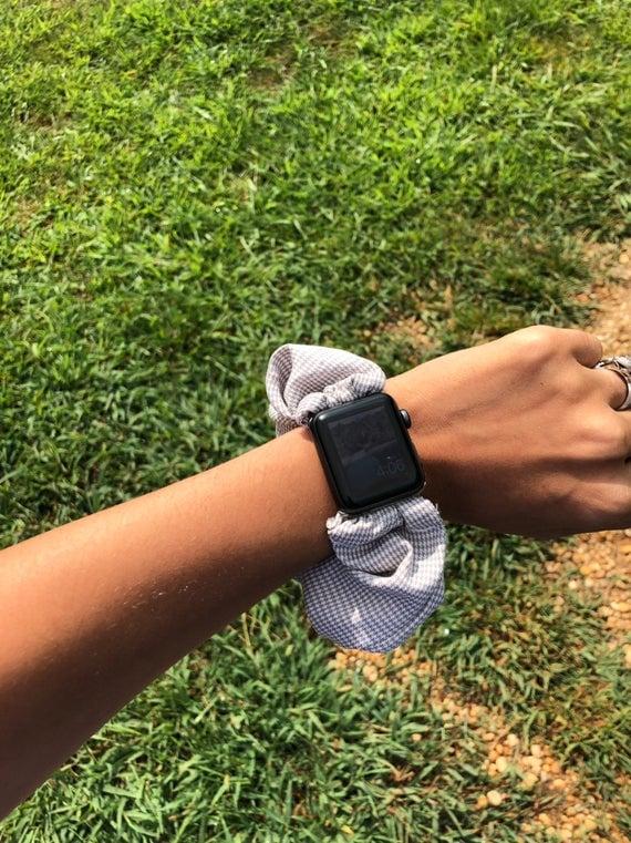 Houndstooth Scrunchie Watch Band