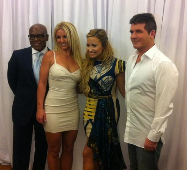 "It's official: Britney Spears and Demi Lovato are your new X Factor judges. The ladies stepped out in NYC today at Fox's upfront presentation for the official announcement that Britney and Demi are joining the show. Rumors started swirling months ago about Britney's involvement and a reported $15 million contract, but no confirmations were made until today. Returning judge Simon Cowell took the stage together before bringing out the rest of his team, saying, ""I'm thrilled to be able to confirm the return of L.A. Reid, the addition of Demi Lovato and the superstar Britney Spears."" Britney made a brief cameo in a sexy white minidress and posed for photos with Demi and the guys. Before leaving the stage, Britney chimed in about her judging role: ""I am so excited about this . . . I'm ready to find the true star."" The second season of X Factor returns this Fall, but will you tune in to see Britney and Demi?"