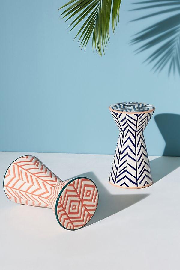 Twill Ceramic Indoor/Outdoor Side Tables