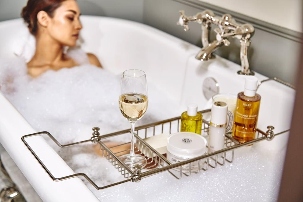 Take a hot bubble bath.