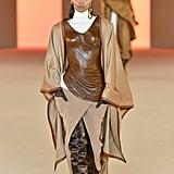 Liya Kebede on the Balmain Fall 2020 Runway at Paris Fashion Week