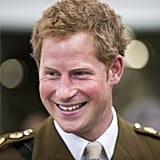 Prince Harry was all smiles during his trip to the naval base in Devonport, England.