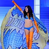Adriana Lima was a superhero on the runway.