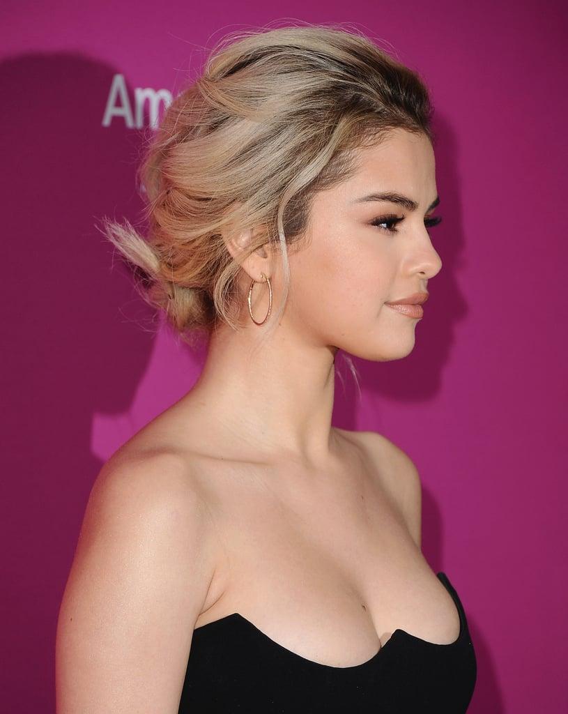 Selena Gomez's Blond Braid in November 2017