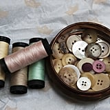 Old mending buttons for clothing you no longer have