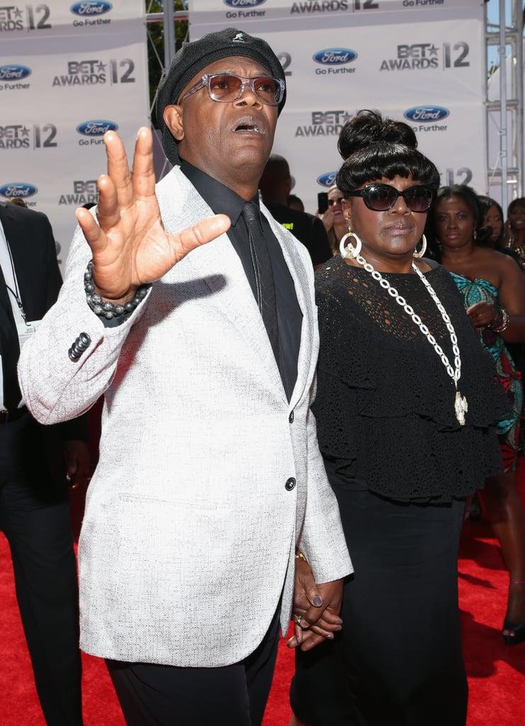 Samuel L. Jackson arrived at the BET Awards in LA.