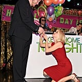 Anna faked a proposal to Chris at the Take Me Home Tonight premiere afterparty in LA in March 2011.