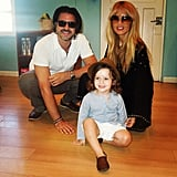 Rachel Zoe and Rodger Berman posed with their son, Skyler, before the little one's first day of school. Source: Instagram user rachelzoe