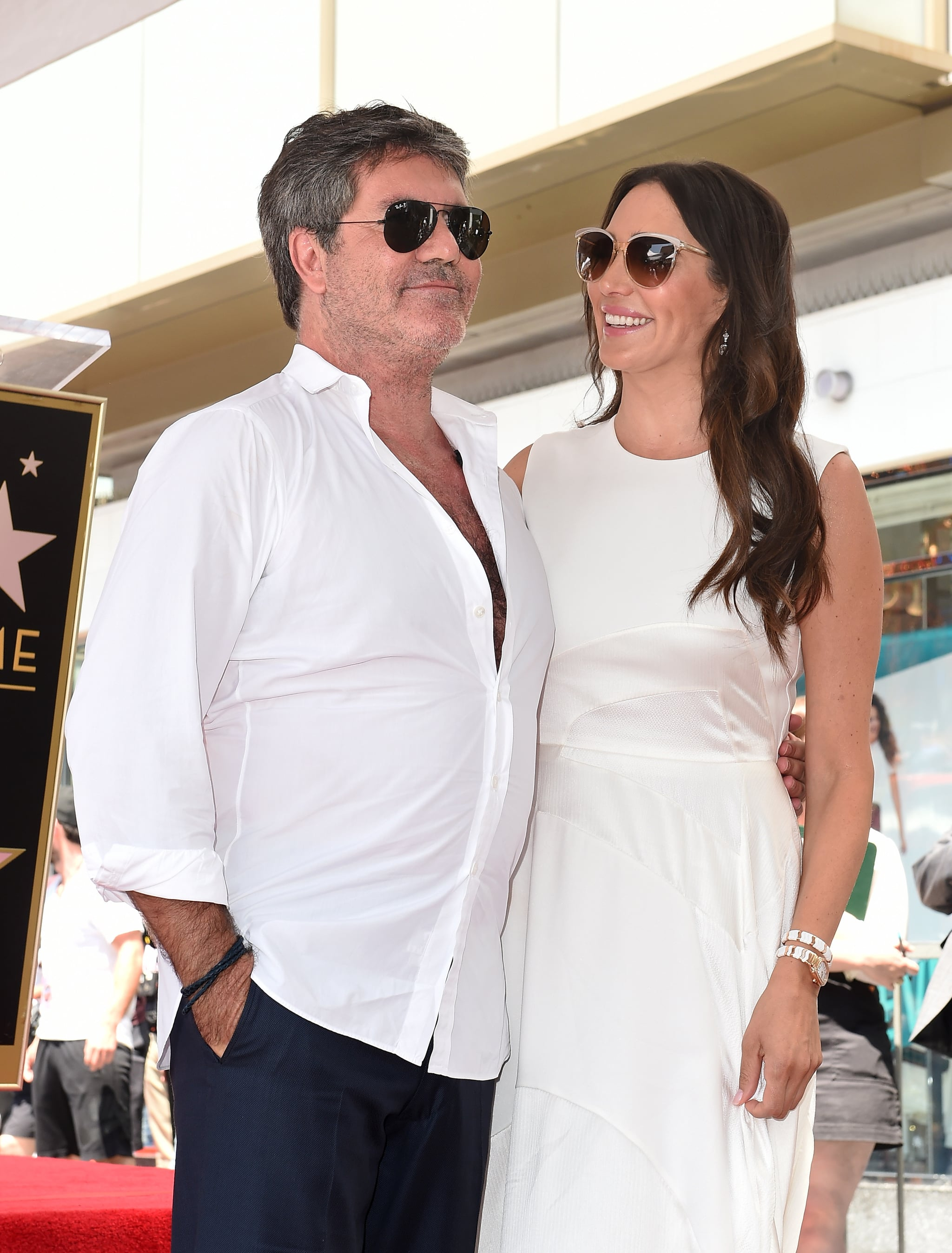 Simon Cowell And His Wife Lauren Silverman Kelly Clarkson And Many More Stars Support Simon Cowell At His Hollywood Star Ceremony Popsugar Celebrity Photo 25