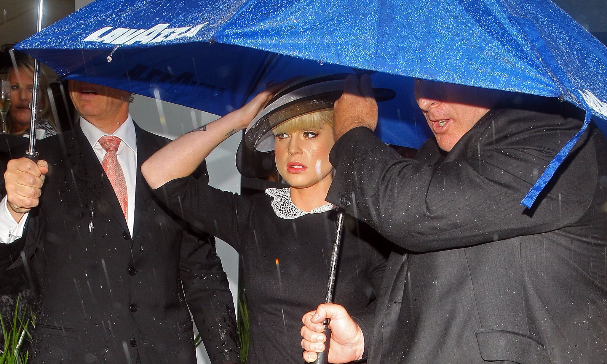 Kelly O makes sure she's well covered