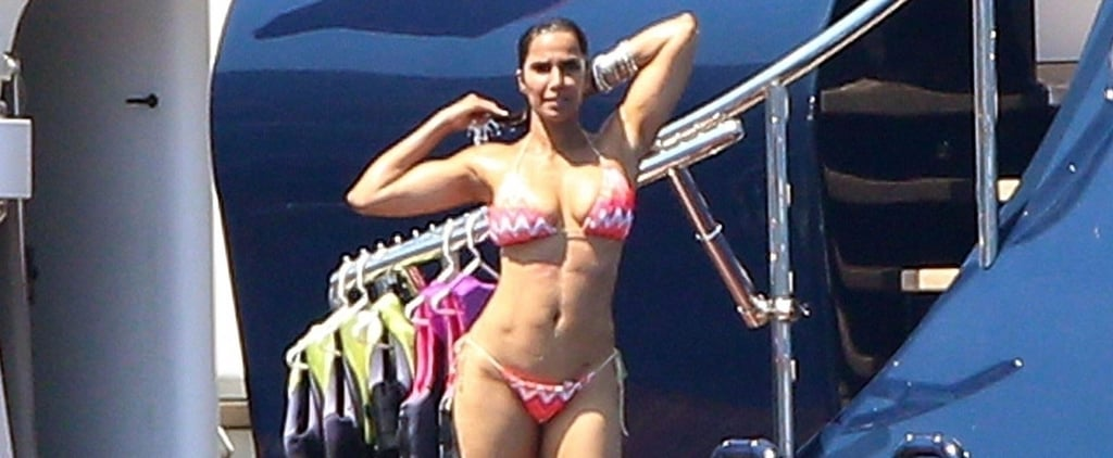Padma Lakshmi Bikini Pictures in Italy August 2018