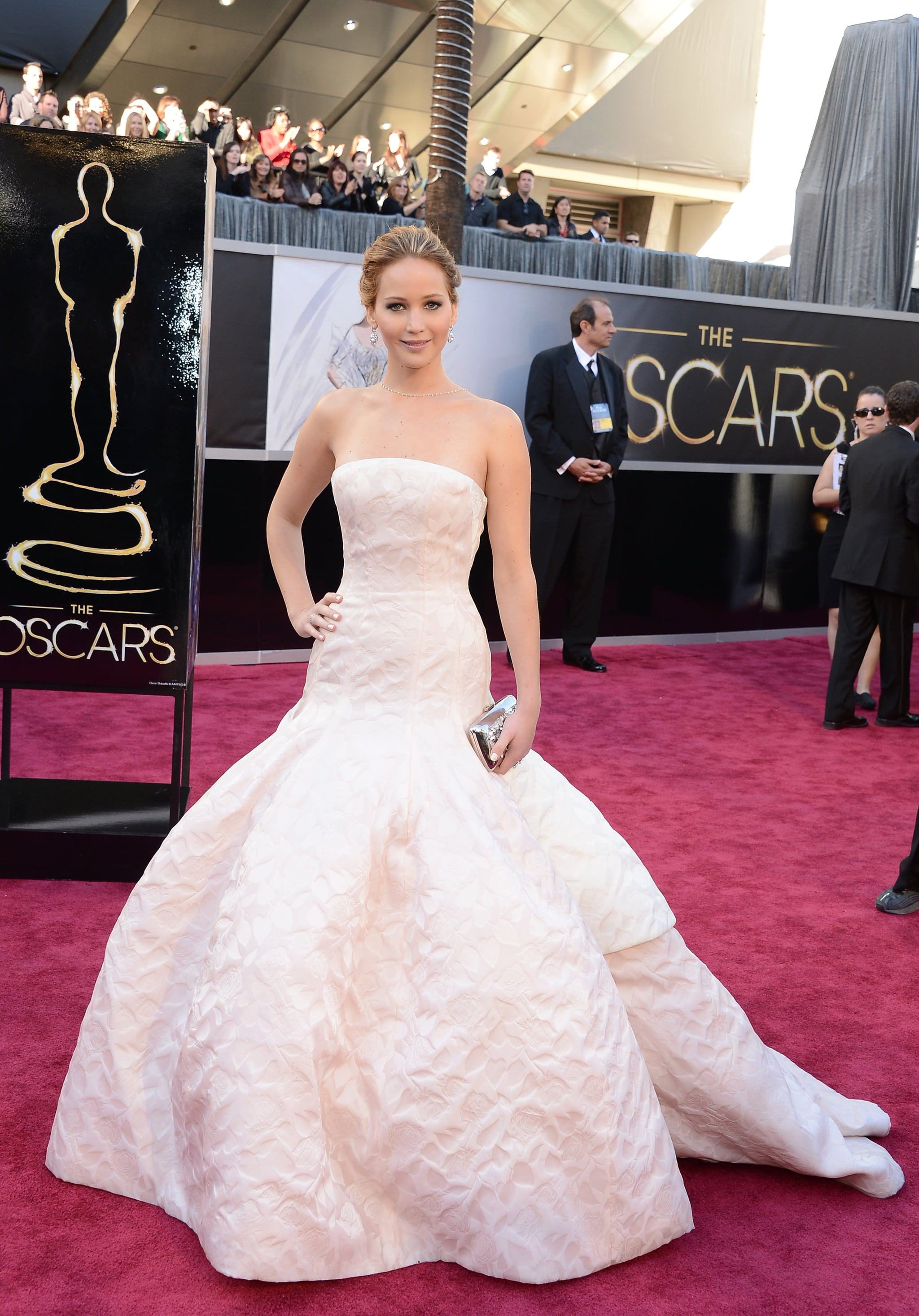 Who could forget this showstopper of an Oscars dress? Jennifer Lawrence stunned us all in Christian Dior Couture.