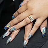 The Trend: Holographic Stiletto Nails