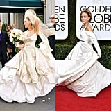 SJP's Globes Dress Will Give You Flashbacks to Carrie Bradshaw's Wedding Day