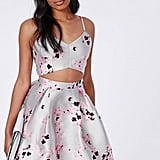 Missguided Floral Cutout Skater Dress ($80)