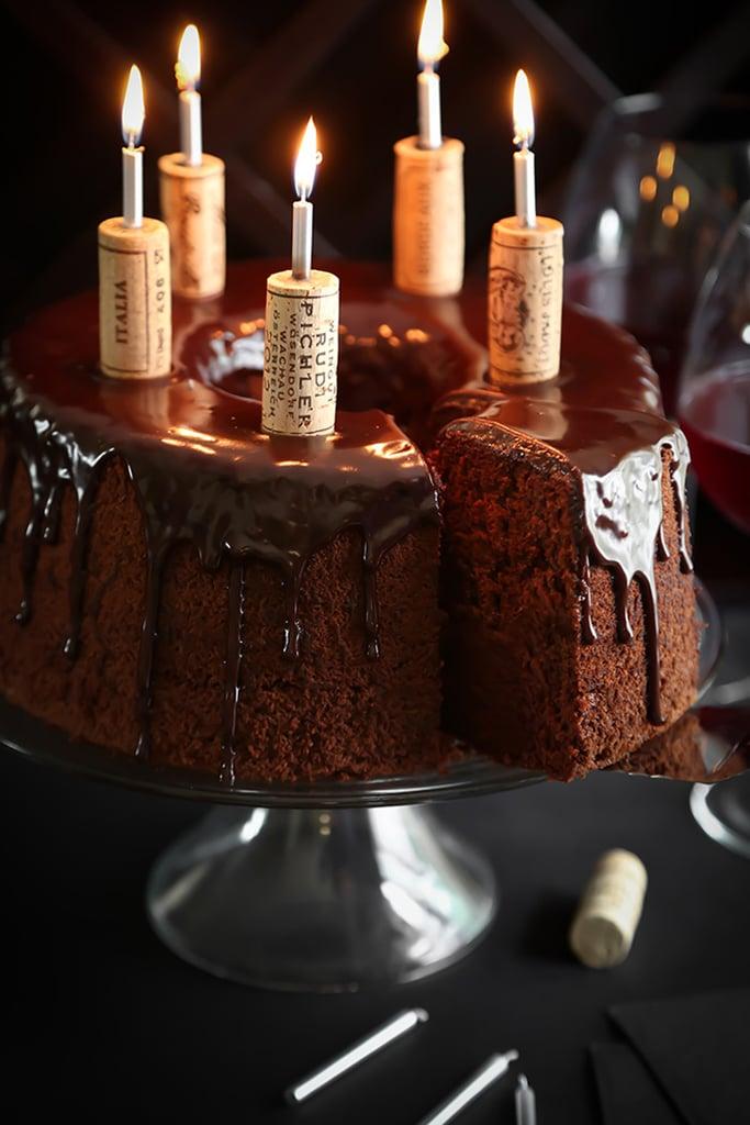 Chocolate Red Wine Chiffon Cake