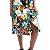 J.Crew Women's Postcard Print A-Line Skirt