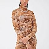 I.Am.Gia Amara Ruched Mesh Mini Dress