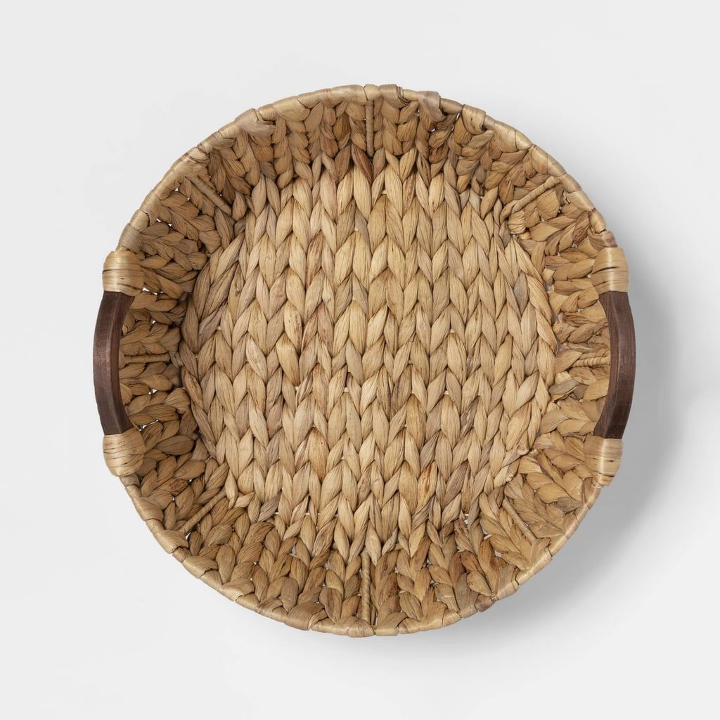 (New) Cravings by Chrissy Teigen Water Hyacinth Basket With Wood Handles