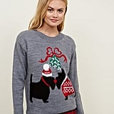 New Look Kissing Scottie Dogs Christmas Jumper