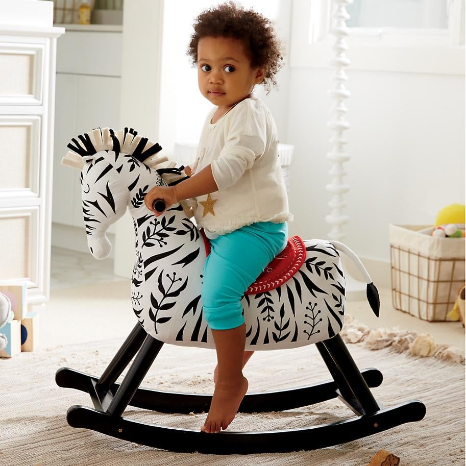 For 2-Year-Olds: Land of Nod Zebra Rocker