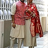 When the happy couple returned from Italy, the couple was spotted wearing Sabyasachi ensembles while arriving at their residence in Mumbai.