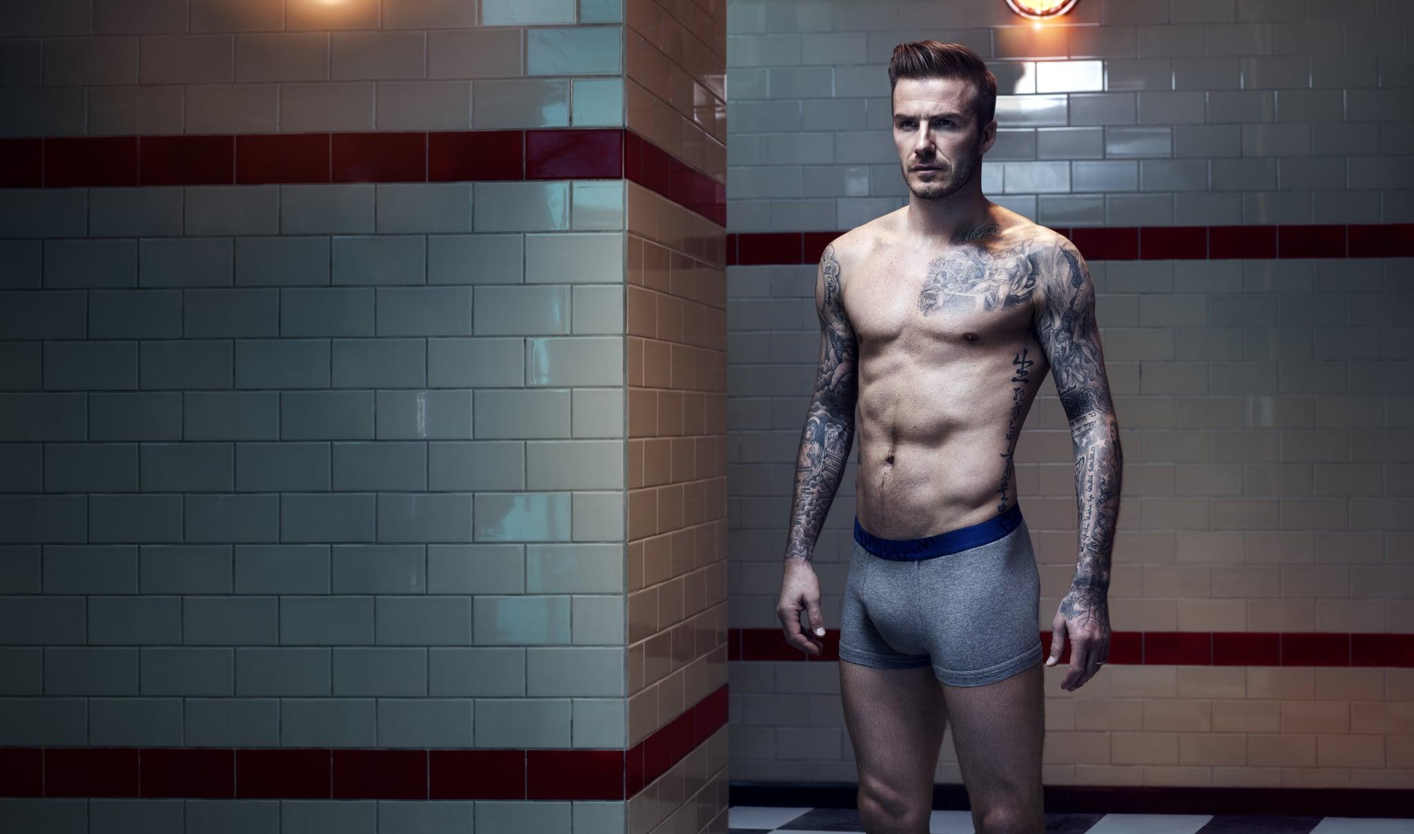 When David Beckham Modeled in His Underwear