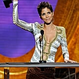 Halle Racks Up the Awards, Bares Her Belly Button, and Rides Away With Olivier