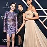 Kristen Stewart, Naomi Scott, and Ella Balinska at the Charlie's Angels Premiere