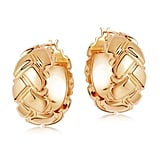 Lucy Williams x Missoma Gold Chunky Waffle Hoops