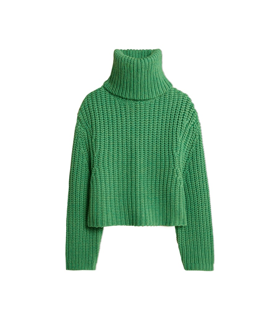 Merino Cropped Turtleneck Sweater