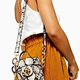 Topshop Shona Snake Barrel Cross Body Bag