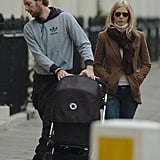 November 2004 saw Chris Martin and Gwyneth Paltrow taking young Apple for a London stroll.