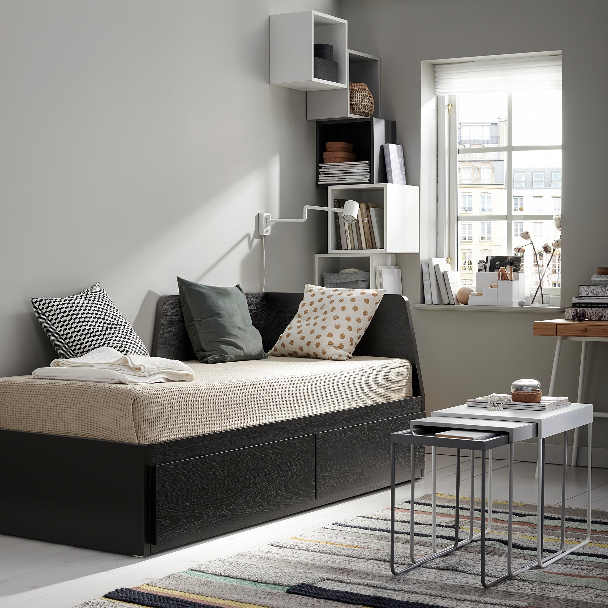 Flekke Daybed Frame With Two Drawers Ikea Has All Of The Space Saving Furniture Your Small Bedroom Needs For Cheap Popsugar Home Photo 13