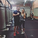 Jamie Chung got in a great sweat session.