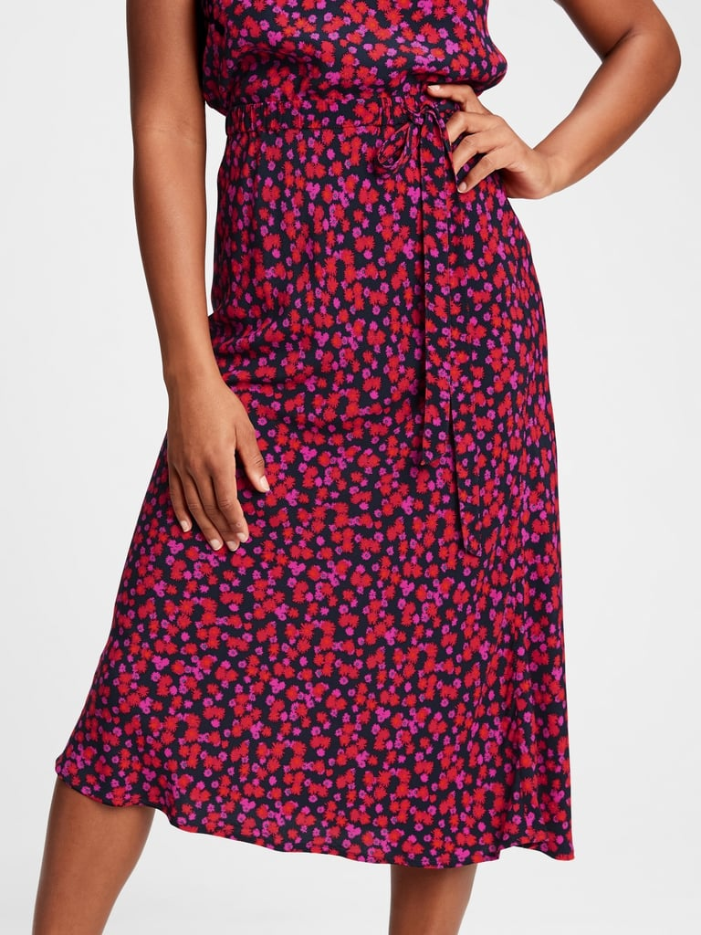 Gap Side-Tie Midi Skirt