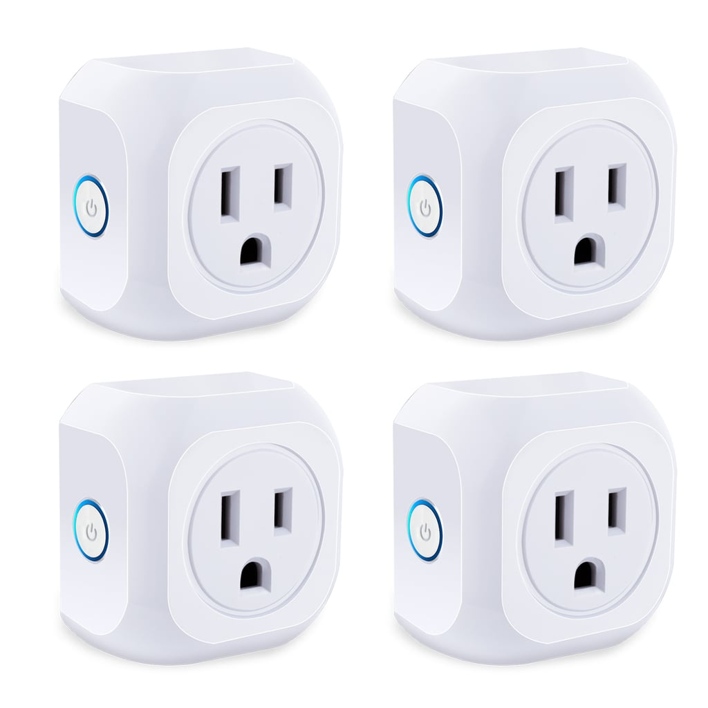 Smart Plug 4 Pack Wifi Enabled Mini Outlets