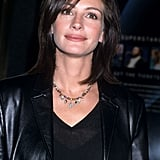 Julia Roberts With Dark Brown, Straight Hair and Side Bangs in 2000