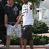 Will Smith giving a peace sign.