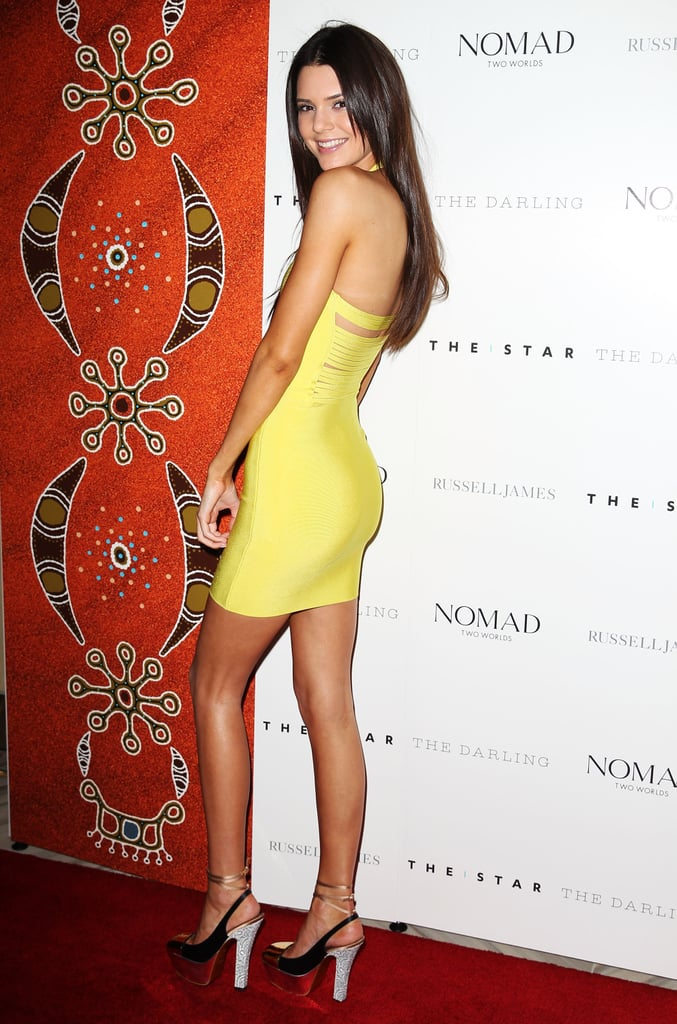 Kendall Knows That to Show Off Her Shoes, She's Got to Look Back at It