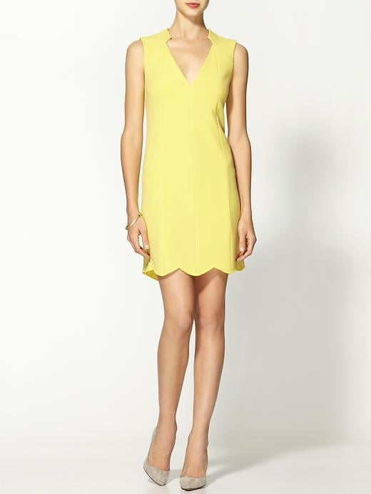 Your perfect cocktail dress or wedding-guest dress comes in the form of this pretty yellow-hued Rachel Roy scallop dress ($209, originally $298).