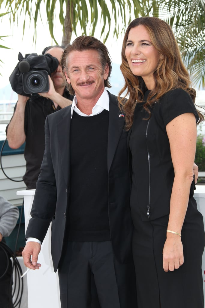 Sean Penn and Roberta Armani posed together at the Cannes Film Festival.
