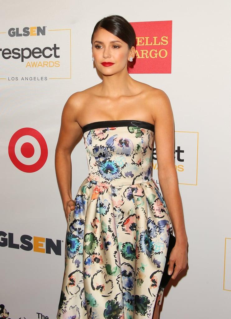 Nina Dobrev at GLSEN Respect Awards in LA October 2016
