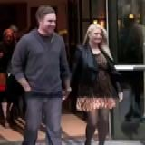 Pregnant Jessica Simpson in a Leopard Dress in New York